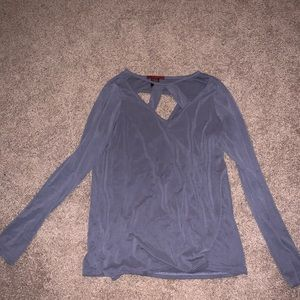 Long Sleeve Top with Cutouts on front and back